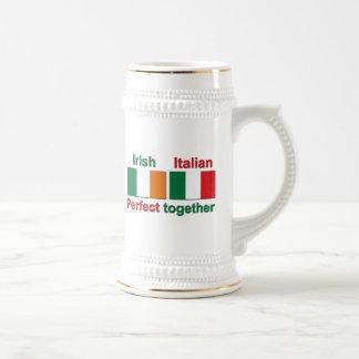 ¡Irlandés italiano - perfeccione junto! Jarra De Cerveza