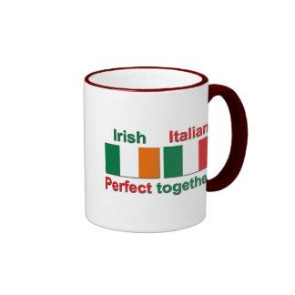 ¡Irlandés italiano - perfeccione junto! Taza A Dos Colores