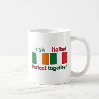 ¡Irlandés italiano - perfeccione junto! Taza Básica Blanca