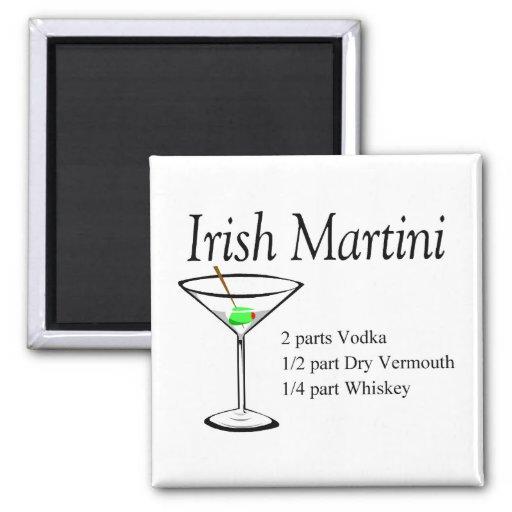 Irlandés Martini Imán Cuadrado