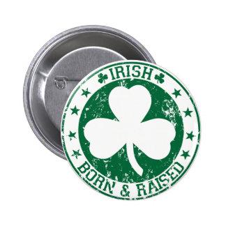 Irlandés nacido y criado pin