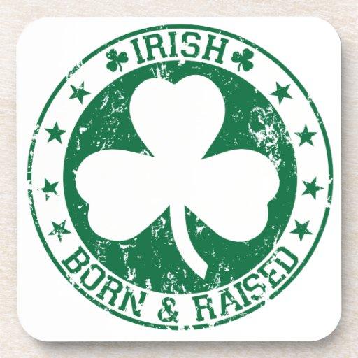 Irlandés nacido y criado posavaso