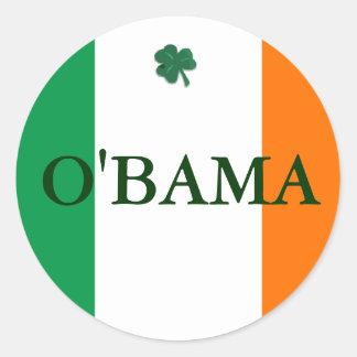 Irlandés Obama Pegatina Redonda