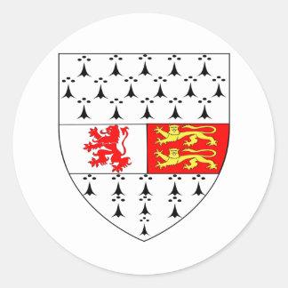 Irlandés oficial de Irlanda del símbolo del escudo Etiquetas Redondas