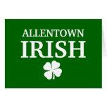 ¡IRLANDÉS orgulloso de ALLENTOWN! El día de St Pat Felicitaciones