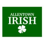 ¡IRLANDÉS orgulloso de ALLENTOWN! El día de St Pat Tarjetas Postales