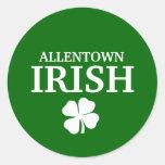 ¡IRLANDÉS orgulloso de ALLENTOWN! El día de St Pegatina Redonda