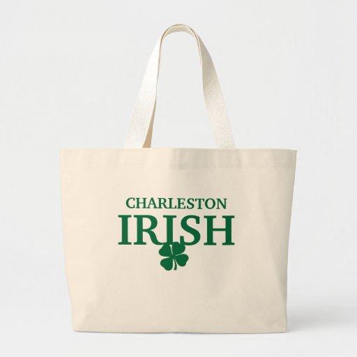 ¡IRLANDÉS orgulloso de CHARLESTON! El día de St Pa Bolsa Lienzo
