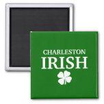 ¡IRLANDÉS orgulloso de CHARLESTON! El día de St Pa Imán De Frigorífico