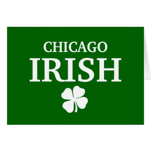 ¡IRLANDÉS orgulloso de CHICAGO! El día de St Patri Tarjeton
