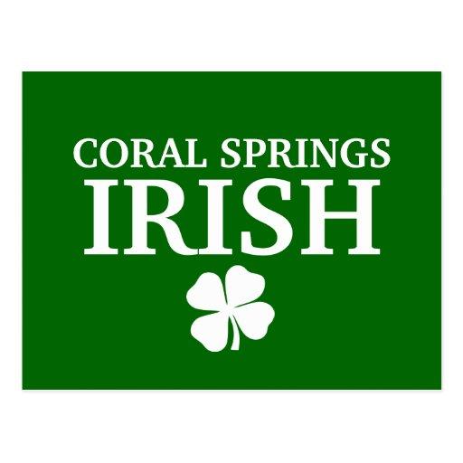 ¡IRLANDÉS orgulloso de CORAL SPRINGS! El día de St Tarjeta Postal