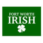 ¡IRLANDÉS orgulloso de FORT WORTH! El día de St Pa Tarjetas Postales