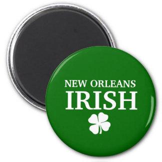 ¡IRLANDÉS orgulloso de NEW ORLEANS! El día de St P Imán Redondo 5 Cm