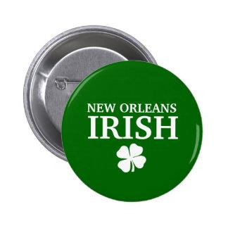 ¡IRLANDÉS orgulloso de NEW ORLEANS! El día de St P Pin Redondo De 2 Pulgadas