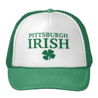 ¡IRLANDÉS orgulloso de PITTSBURGH! El día de St Pa Gorro De Camionero