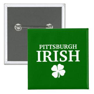 ¡IRLANDÉS orgulloso de PITTSBURGH! El día de St Pa Pin Cuadrado
