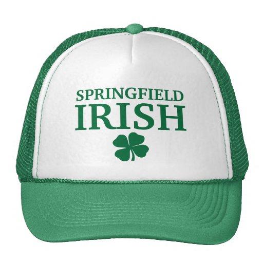 ¡IRLANDÉS orgulloso de SPRINGFIELD! El día de St P Gorras