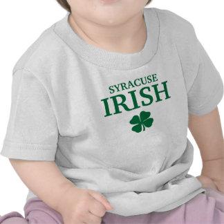 ¡IRLANDÉS orgulloso de SYRACUSE! El día de St Patr Camisetas