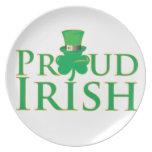 Irlandés orgulloso plato de comida