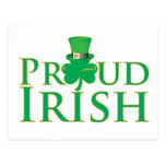 Irlandés orgulloso postal