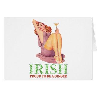 IRLANDÉS - orgulloso ser un jengibre Tarjetón