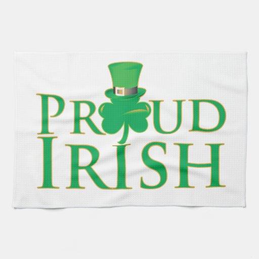 Irlandés orgulloso toallas