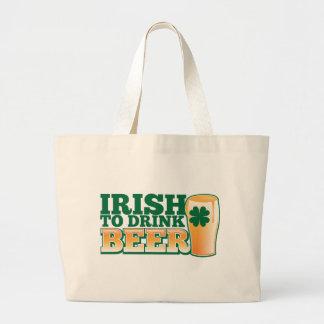 ¡Irlandés para beber la CERVEZA! Bolsas De Mano
