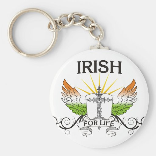 Irlandés para la vida llaveros personalizados