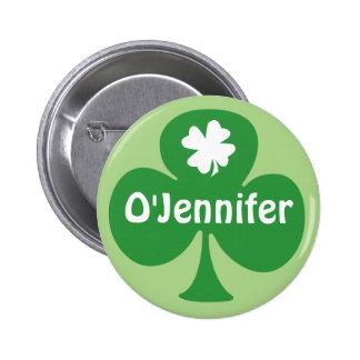 Irlandés para las etiquetas del nombre del fiesta  pin redondo de 2 pulgadas