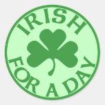 Irlandés para los pegatinas de un día pegatinas redondas