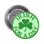 Irlandés para un botón del día pins