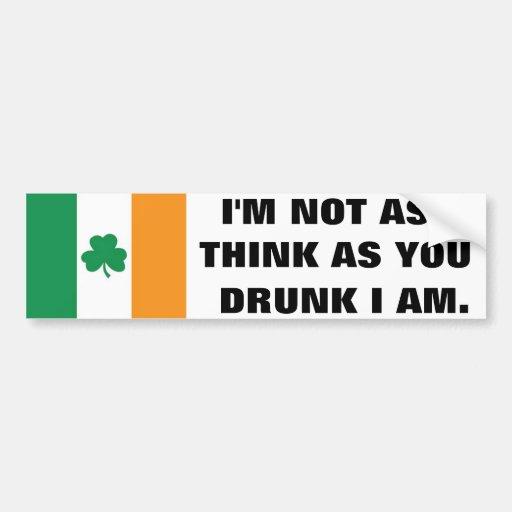 Irlandés Pegatina Para Auto