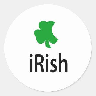 irlandés pegatina redonda
