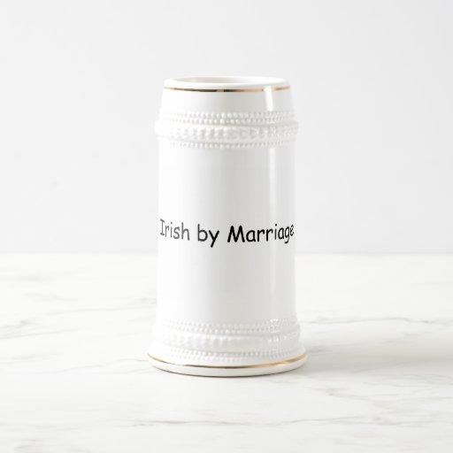Irlandés por boda jarra de cerveza