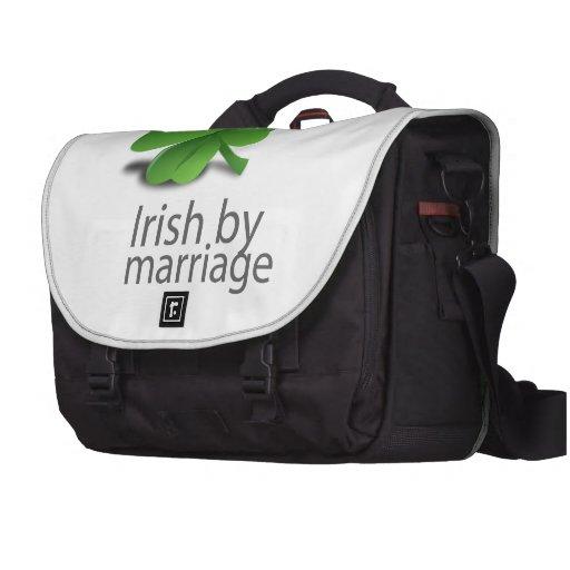 Irlandés por diseño de la boda bolsas de portátil