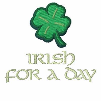 Irlandés por un día camiseta polo