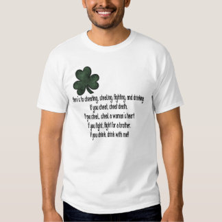 Irlandés que bebe diciendo 1 - camiseta playera