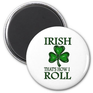 Irlandés que es cómo ruedo imán redondo 5 cm