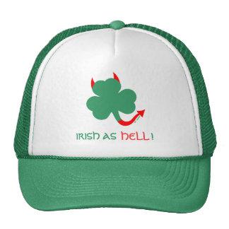 Irlandés salvaje como orgullo del día del St. Gorras De Camionero