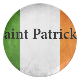 Irlandés San Patricio la bandera Plato De Comida
