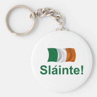 ¡Irlandés Slainte! Llavero Redondo Tipo Pin