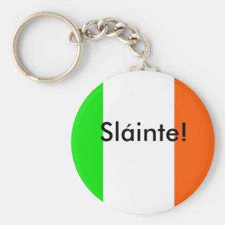 Irlandés Slainte (salud) Llavero Redondo Tipo Pin