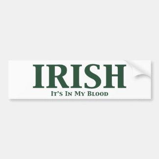 Irlandés sus adentro mis regalos de la sangre pegatina para auto