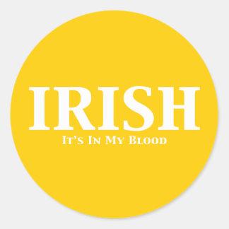 Irlandés sus adentro mis regalos de la sangre pegatina redonda