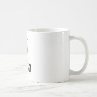 irlandés taza básica blanca