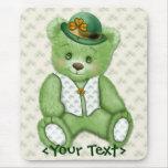 Irlandés Teddybear - verde Alfombrillas De Ratones