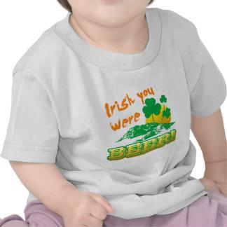 Irlandés usted era cerveza camiseta