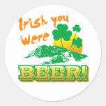 Irlandés usted era cerveza etiquetas redondas