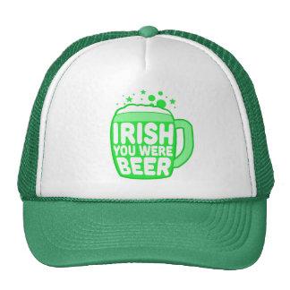 Irlandés usted era cerveza gorra