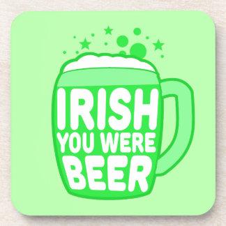 Irlandés usted era cerveza posavasos de bebida
